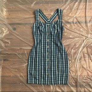 80s Vintage Denim Mini Dress